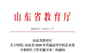 山东2020艺考重大改革-山东省2020年艺考改革